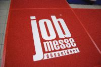 Jobmesse-Duesseldorf Logo auf Teppich